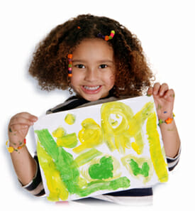 Your kids drawing on art print