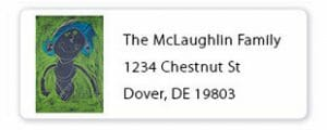 artwork return address labels